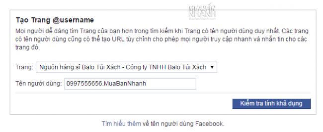 Cách thay đổi link URL cho fanpage trên Facebook