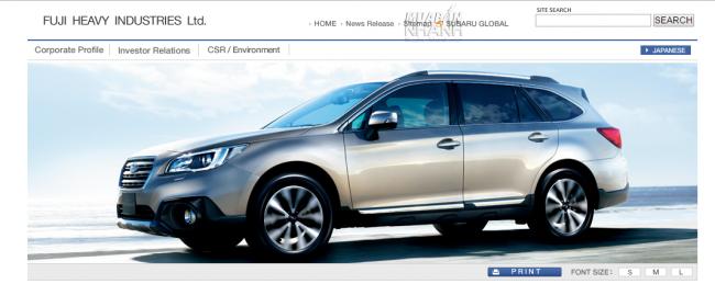 Subaru - thương hiệu xe của Cty TNHH Công nghiệp nặng Fuji - Fuji Heavy Industries ltd