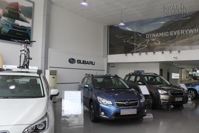 Các mẫu xe Subaru được trưng bày tại showroom đại lý Subaru Sài Gòn - Đại lý Subaru chính hãng tại Việt Nam