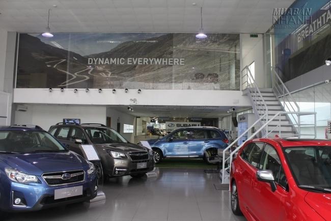 Xe Subaru mới được trưng bày tại showroom đại lý Subaru Sài Gòn - Đại lý Subaru chính hãng tại Việt Nam