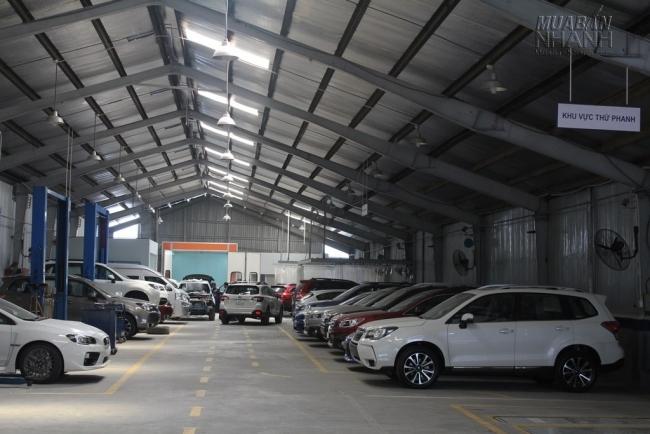 Khu vực bảo dưỡng và bảo trì xe Subaru tại Subaru Sài Gòn