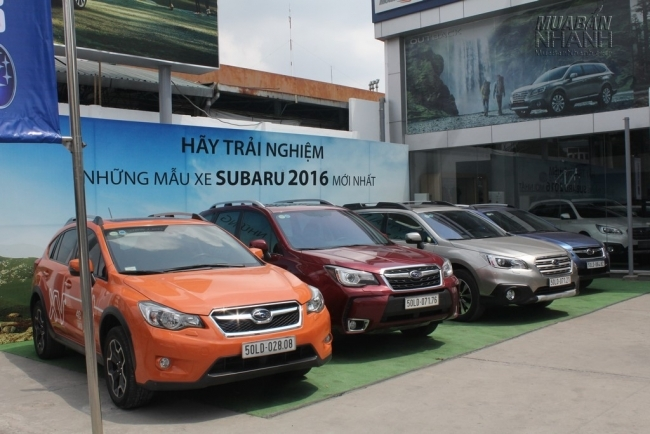 Subaru được trưng bày tại Subaru Sài Gòn - Đại lý Subaru chính hãng tại Việt Nam