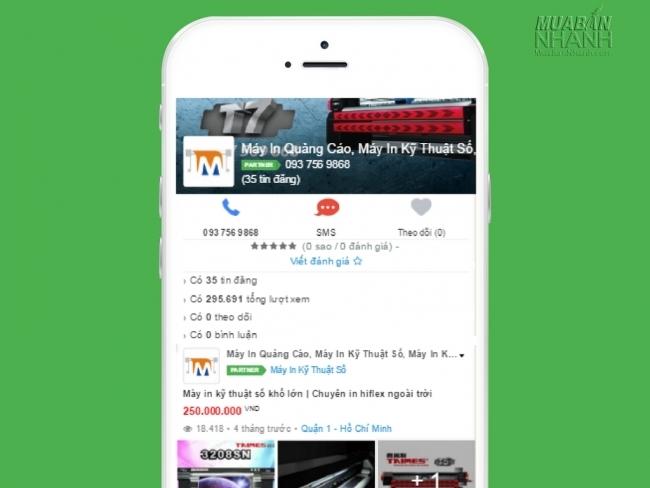 MayInQuangCao.com trên Mạng xã hội Mua Bán Nhanh