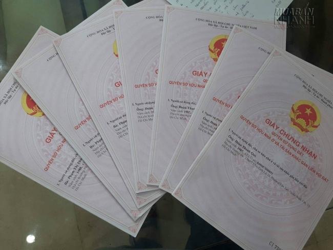 giấy tờ mua bán nhà đất quận bình tân