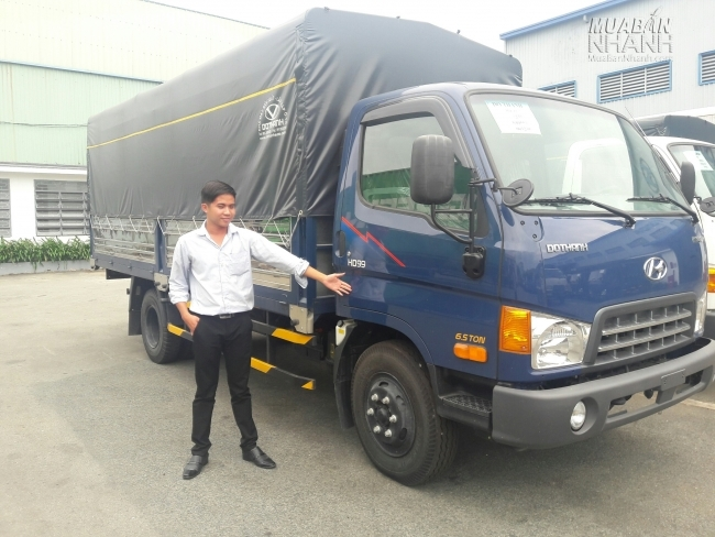Công ty CP ô tô Tân Phú - Showroom Bình Chánh phân phối xe Hyundai HD99 6,5 tấn, có xe giao ngay.